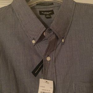 NWT Haggar XXL Button-Up Shirt - Wrinkle Resistant